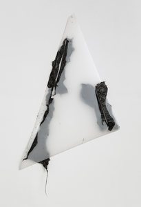 Gelah Penn Constructed Drawings Plastic garbage bags, metal staples & eyelets on Mylar