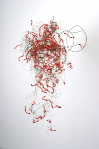Gelah Penn Sculpture Aluminum, pipe cleaners, monofilament