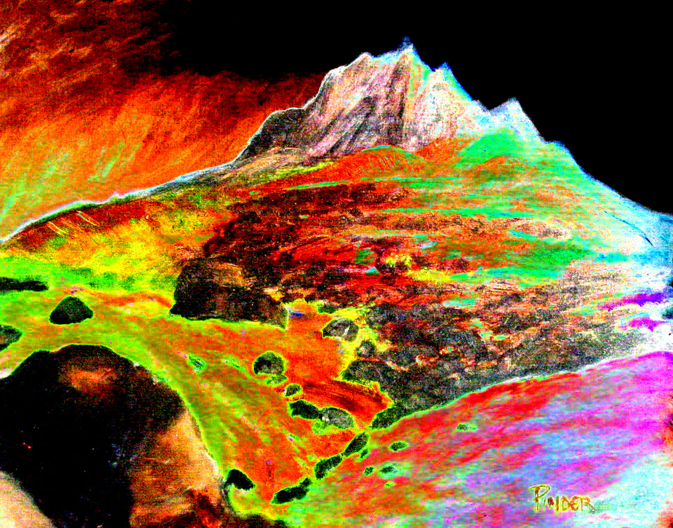 Landscapes Hot Lava