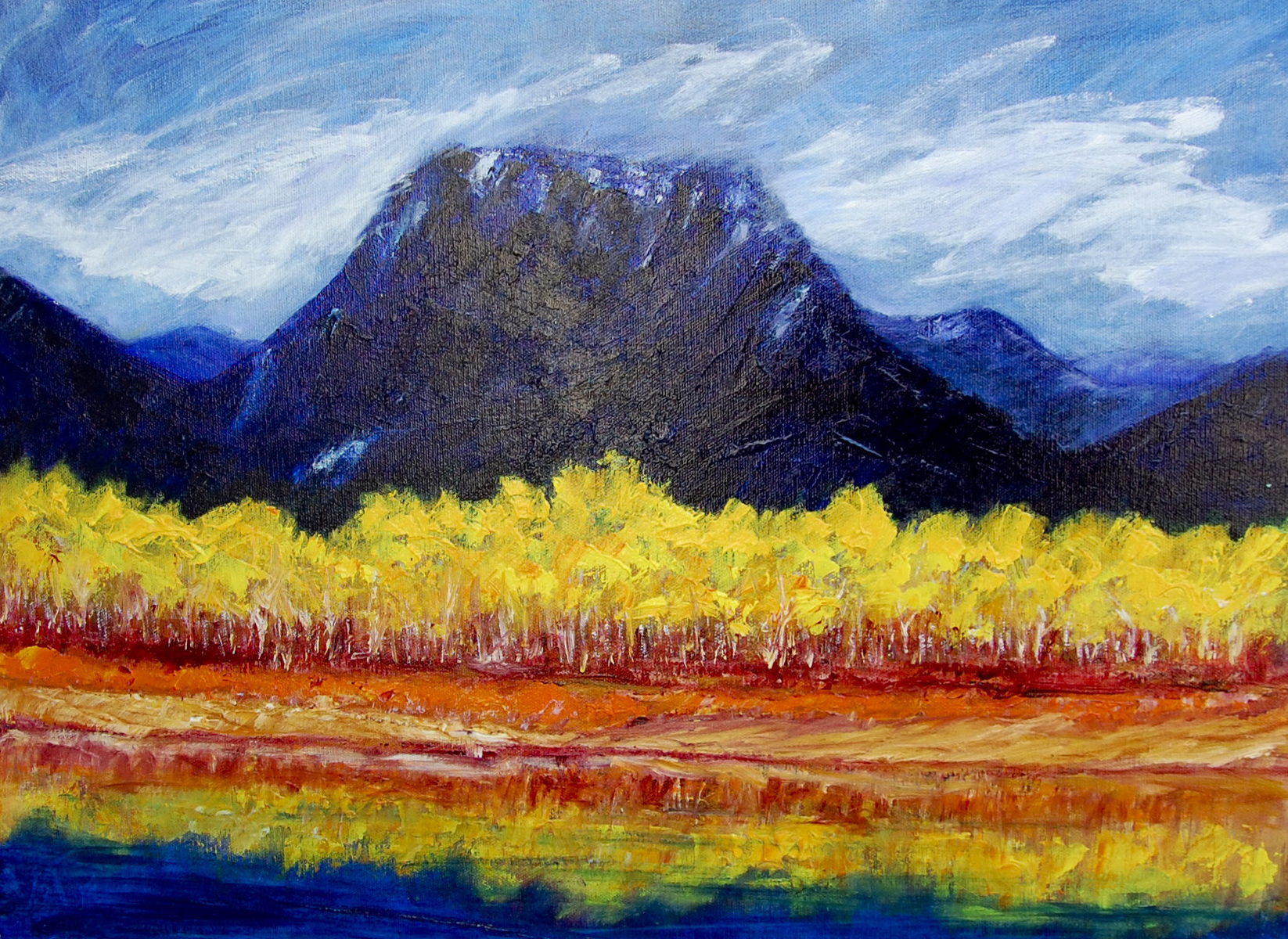 Landscapes Aspens Taking a Bow