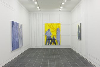 George Rush 2014 Paintings and wall-drawing