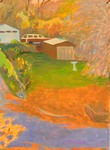 GEORGE TAPLEY (home)          Minnesota Scenes oil on gessoed paper