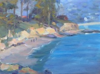 GEORGE TAPLEY (home)          Laguna Beach & Crystal Cove oil on paper