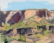 GEORGE TAPLEY (home)          Clark Park & Coyote Hills oil on board