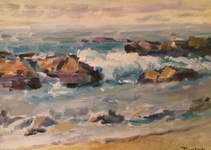 GEORGE TAPLEY (home)          Laguna Beach & Crystal Cove oil.panel