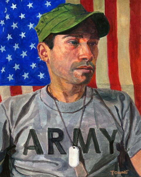 "- Main Artwork / Paintings Page 2 ""Lorenzo - Army Shirt"""
