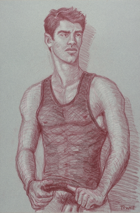 "- ""Erotic Life Drawings/Misc. Erotic Work"" - <i>Warning: Adult Content, please be 18 to view</i> &quot;Roly - Tanktop&quot;  Life Drawing"