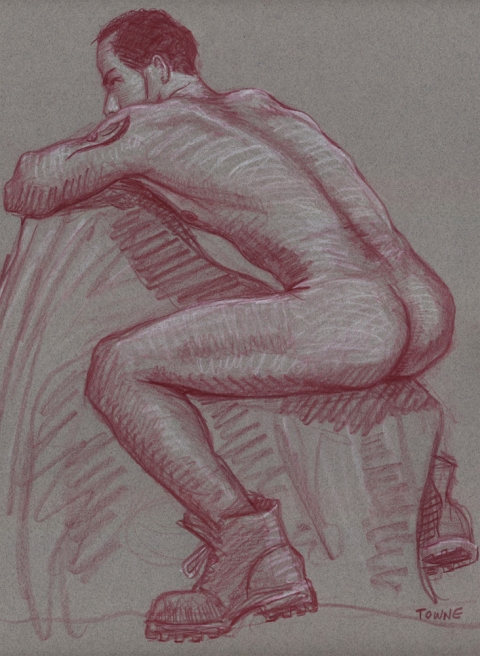 "- ""Erotic Life Drawings/Misc. Erotic Work"" - <i>Warning: Adult Content, please be 18 to view</i> &quot;Deon - Backside&quot;  Life Drawing"