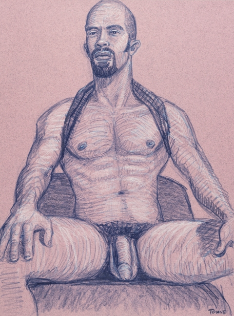 "- ""Erotic Life Drawings/Misc. Erotic Work"" - <i>Warning: Adult Content, please be 18 to view</i> &quot;Mike - Seated Tanktop&quot;  Life Drawing"
