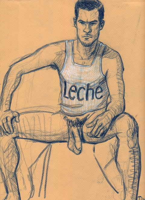 "- ""Erotic Life Drawings/Misc. Erotic Work"" - <i>Warning: Adult Content, please be 18 to view</i> ""Klaus - Leche""  Life Drawing"