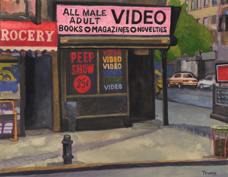 "- Main Artwork / Recent Paintings ""All Male Video"""