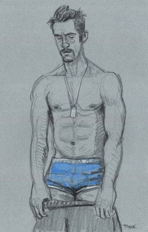 "- ""Erotic Life Drawings/Misc. Erotic Work"" - <i>Warning: Adult Content, please be 18 to view</i> &quot;DanPaul - Undressing, Blue Underwear&quot;  Life Drawing"