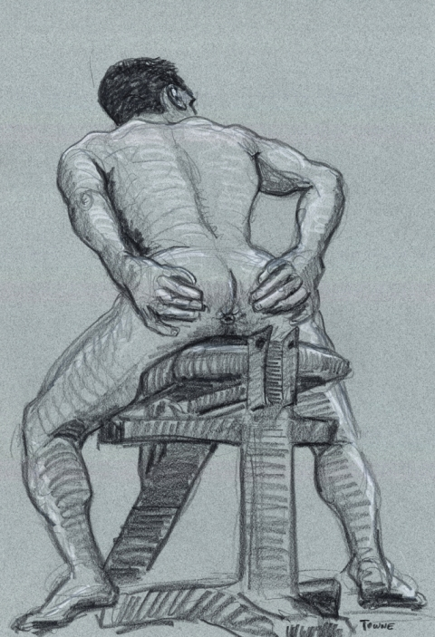 "- ""Erotic Life Drawings/Misc. Erotic Work"" - <i>Warning: Adult Content, please be 18 to view</i> &quot;Conrad - Weightbench/Butthole&quot;  Life Drawing"