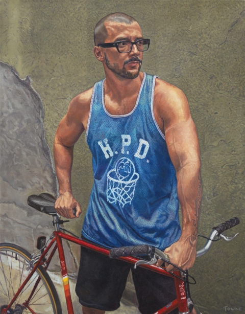 "- Main Artwork / Recent Paintings ""Isauro with Bike"""