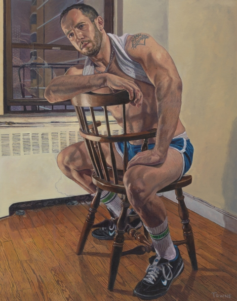 "- Main Artwork / Recent Paintings ""Eric Seated, Chair"""