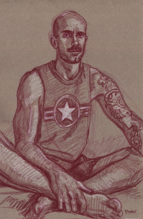 "- Main Artwork / Paintings Page 2 ""Chuck, Star Shirt - Drawing"""