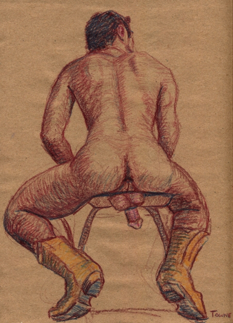 "- ""Erotic Life Drawings/Misc. Erotic Work"" - <i>Warning: Adult Content, please be 18 to view</i> &quot;Roberto - Yellow Cowboy Boots&quot;  Life Drawing"