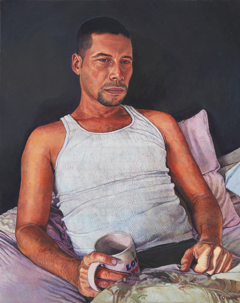 "- Main Artwork / Recent Paintings ""Adriano with Coffee Mug"""