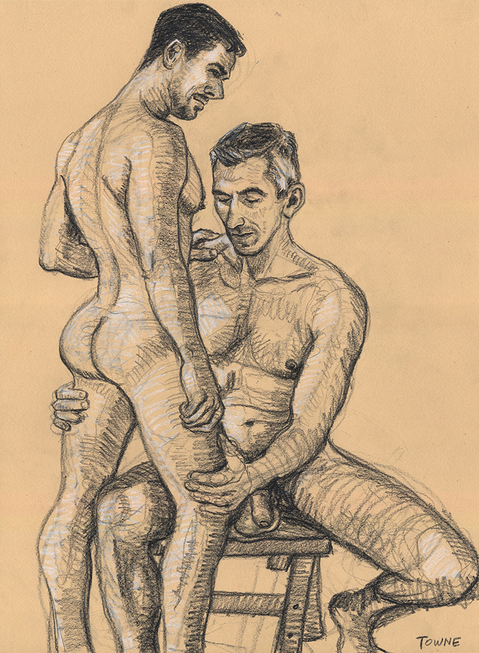 "- ""Erotic Life Drawings/Misc. Erotic Work"" - <i>Warning: Adult Content, please be 18 to view</i> &quot;Zsolt and Michael, (Fire Island) Pines Nude Drawing Group"