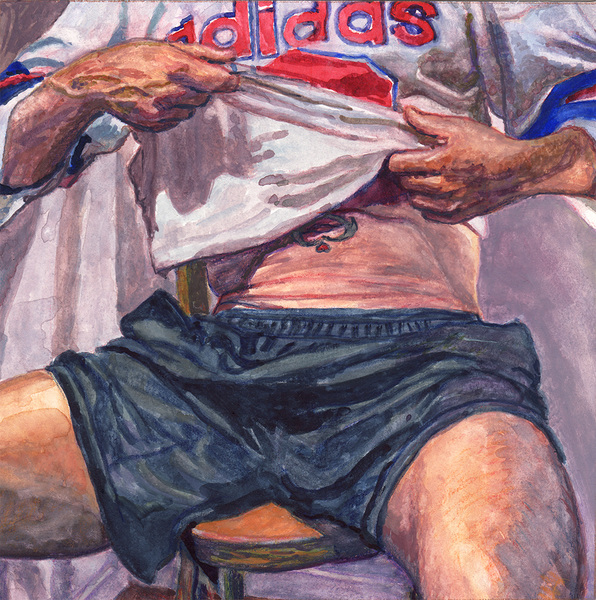 "- ""Erotic Life Drawings/Misc. Erotic Work"" - <i>Warning: Adult Content, please be 18 to view</i> ""Sergio's Tattoo - Adidas"""