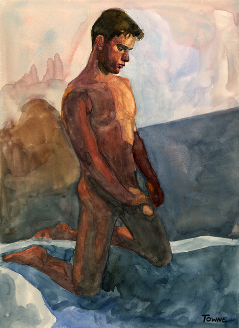 "- ""Erotic Life Drawings/Misc. Erotic Work"" - <i>Warning: Adult Content, please be 18 to view</i> &quot;Mark A. - Watercolor&quot;"