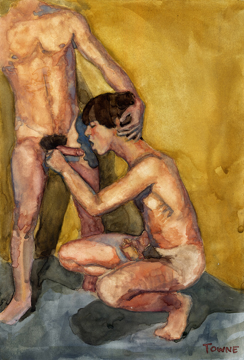 "- ""Erotic Life Drawings/Misc. Erotic Work"" - <i>Warning: Adult Content, please be 18 to view</i> &quot;Porn Watercolor - B.J.&quot;"