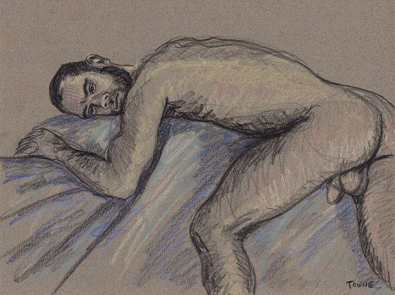 "- ""Erotic Life Drawings/Misc. Erotic Work"" - <i>Warning: Adult Content, please be 18 to view</i> &quot;Kevin, Relaxing&quot;  Life Drawing"