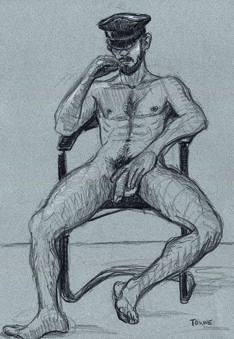 "- ""Erotic Life Drawings/Misc. Erotic Work"" - <i>Warning: Adult Content, please be 18 to view</i> &quot;Nico - Leather Cap Life Drawing"