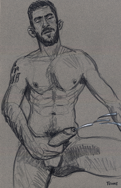 "- ""Erotic Life Drawings/Misc. Erotic Work"" - <i>Warning: Adult Content, please be 18 to view</i> ""Nico - Cumming"" - Life Drawing"