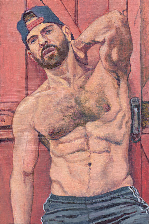 "- Main Artwork / Recent Paintings ""Gregory with Barn Door"""