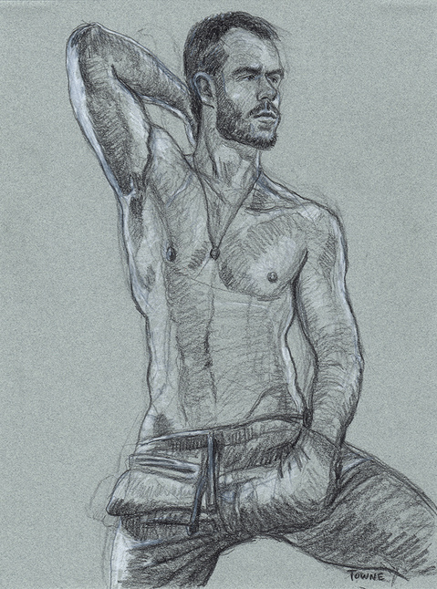 "- ""Erotic Life Drawings/Misc. Erotic Work"" - <i>Warning: Adult Content, please be 18 to view</i> ""Mitch - Armpit, Sweatpants, (Pieces Bar Drink 'N Draw)"""