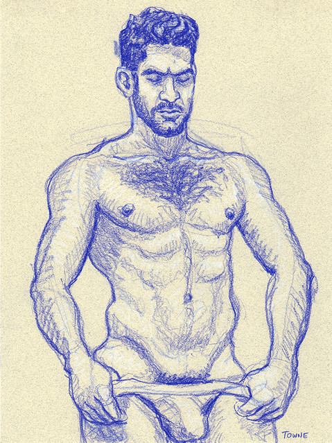 "- ""Erotic Life Drawings/Misc. Erotic Work"" - <i>Warning: Adult Content, please be 18 to view</i> ""Sam - Undressing"""