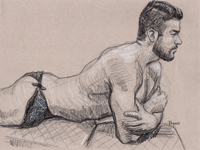 "- ""Erotic Life Drawings/Misc. Erotic Work"" - <i>Warning: Adult Content, please be 18 to view</i> ""Hugo - Reclining Profile"""