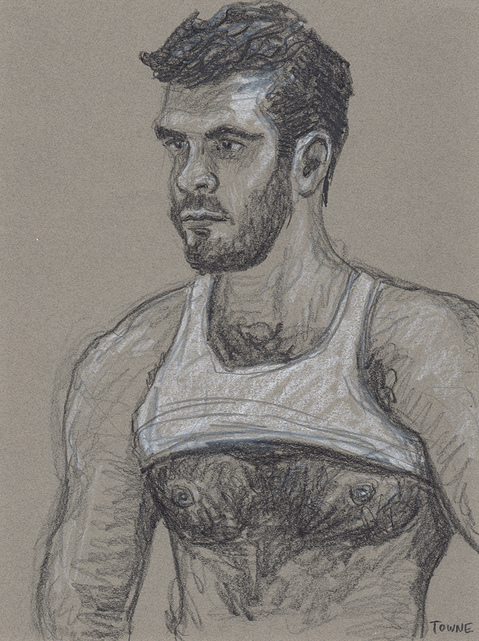 "- ""Erotic Life Drawings/Misc. Erotic Work"" - <i>Warning: Adult Content, please be 18 to view</i> ""Jared S. - Tanktop"""