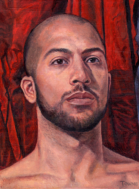 "- Main Artwork / Recent Paintings ""Gabriel, Portrait - Red Drapery"""