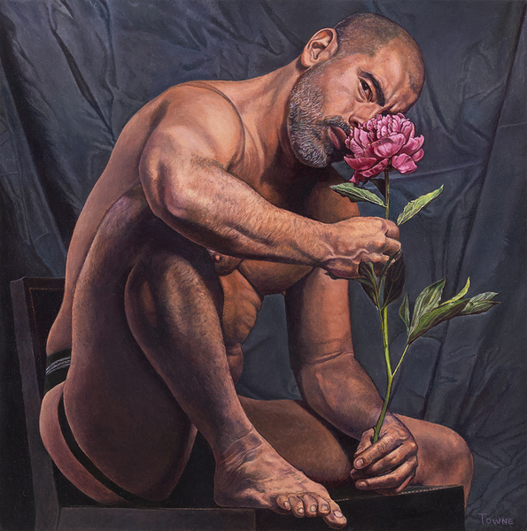 "- Main Artwork / Recent Paintings ""Mike with Peony"""