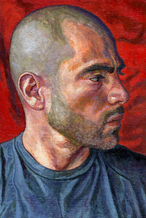 "- Main Artwork / Paintings Page 2 ""Mike - Profile Portrait"""