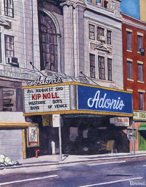 "- Main Artwork / Recent Paintings ""Adonis Theater"" Watercolor"