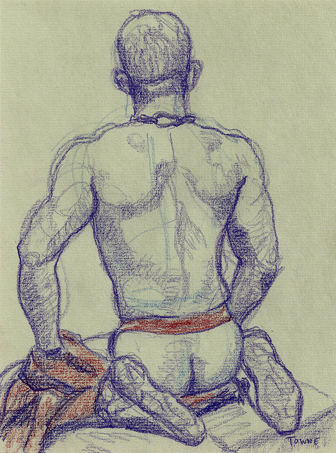 "- ""Erotic Life Drawings/Misc. Erotic Work"" - <i>Warning: Adult Content, please be 18 to view</i> &quot;Xavier - Backside, Jock&quot;"