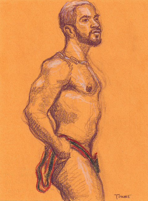 "- ""Erotic Life Drawings/Misc. Erotic Work"" - <i>Warning: Adult Content, please be 18 to view</i> &quot;Xavier - Standing, Singlet Down&quot;"