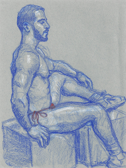 "- ""Erotic Life Drawings/Misc. Erotic Work"" - <i>Warning: Adult Content, please be 18 to view</i> &quot;Xavier - Profile Pose&quot;"