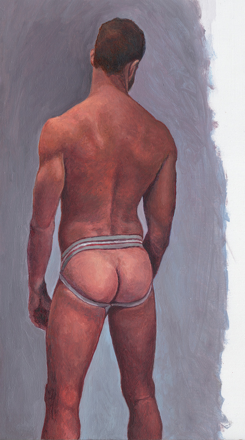 "- ""Erotic Life Drawings/Misc. Erotic Work"" - <i>Warning: Adult Content, please be 18 to view</i> &quot;Mitch - Backside, Jock&quot;"
