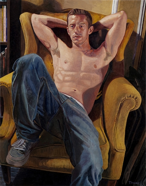 "- Main Artwork / Recent Paintings ""Andy - Seated"""