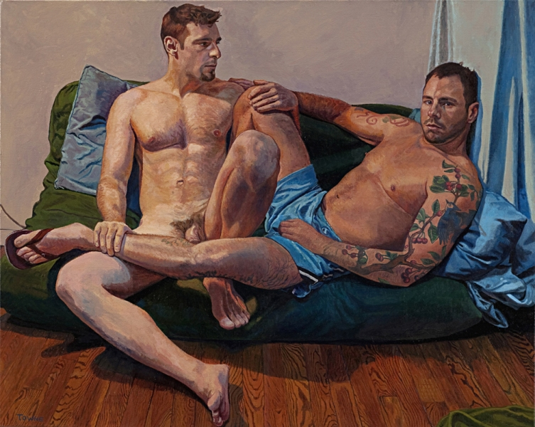 "- Main Artwork / Recent Paintings ""Rich and Seth"""