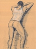"- ""Erotic Life Drawings/Misc. Erotic Work"" - <i>Warning: Adult Content, please be 18 to view</i> Life Drawing - Color Pencil on Toned Paper"