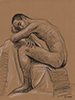 "- ""Erotic Life Drawings/Misc. Erotic Work"" - <i>Warning: Adult Content, please be 18 to view</i> Pencil on Toned Paper"