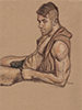 "- ""Erotic Life Drawings/Misc. Erotic Work"" - <i>Warning: Adult Content, please be 18 to view</i> Life Drawing, Color Pencil on Toned Paper"
