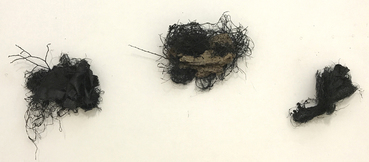 Gilda Pervin Hardwick Street Dallas Burlap, acrylic paint, bark, twine, twigs, bird nest, napkins, packaging material