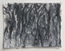 Gilda Pervin Drawings Acrylic gesso, paint and medium, acrylic silver paint, ink, on paper