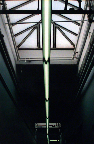 GINA FUENTES WALKER • COMMISSIONS title: neon skylight, 2002